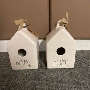 Rae Dunn bird houses set of two. NEW
